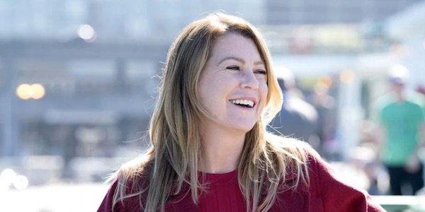 Meredith laughing during Season 14
