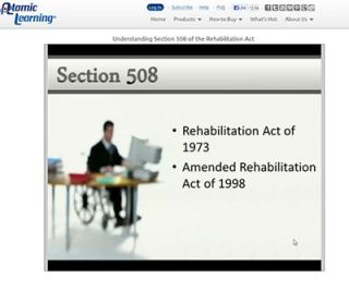 Video Tutorial: Understanding Section 508 of the Rehabilitation Act