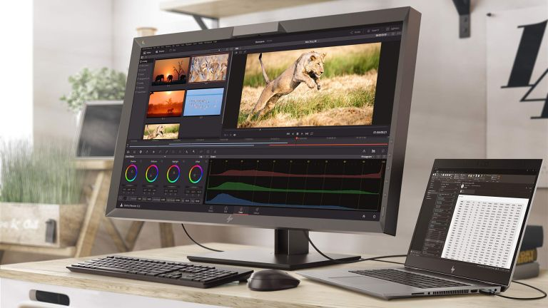 The best 4K monitors hero image showing a Ultra HD monitor being used to edit video