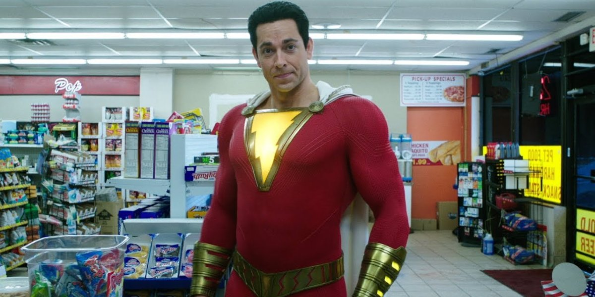 Shazam Zachary Levi stands firm in the convenience store