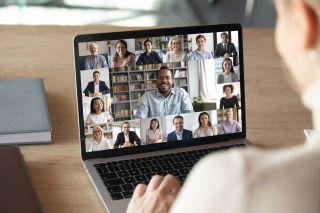 A group meeting via web-cam.