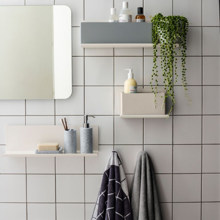 Small bathroom organization ideas by John Lewis