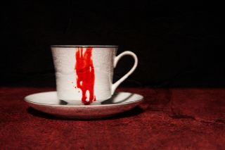 blood, teacup, drinking blood