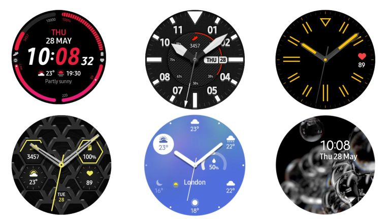 Some leaked watch faces of the Galaxy Watch 3