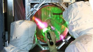 Each of the four supercooled mirrors weighs 40 kilograms.