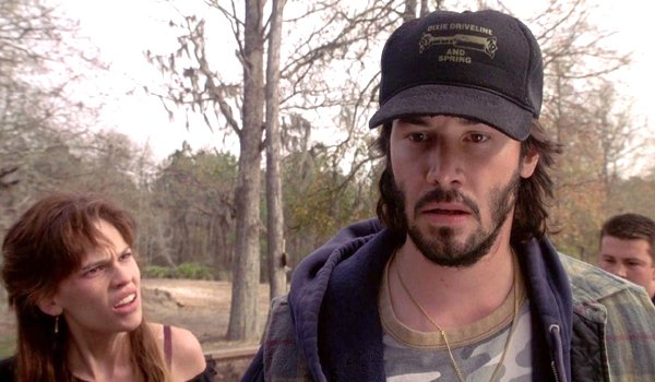 The Gift Hilary Swank mullet Keanu Reeves in trucker's hat