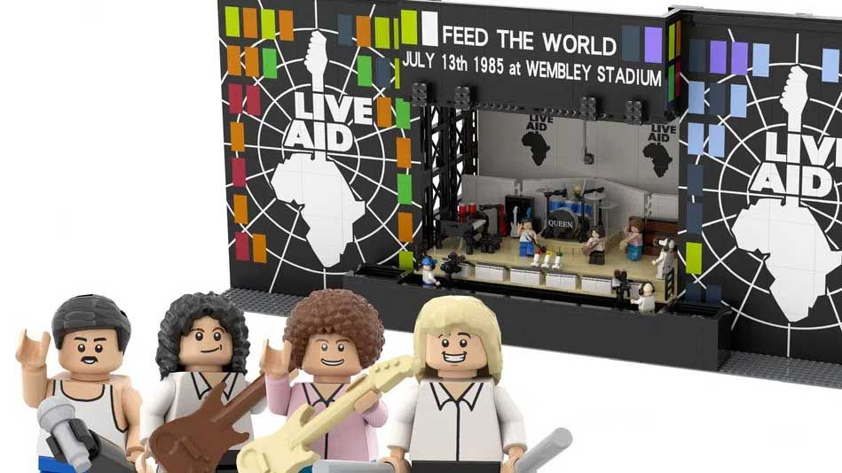 Queen at Live Aid is the latest Lego project that needs your support
