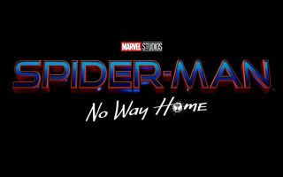 The logo for Spider-Man: No Way Home on a black background