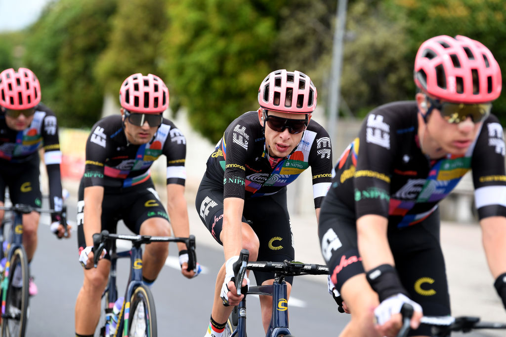 MONTE ZONCOLAN ITALY MAY 22 Hugh Carthy of United Kingdom and Team EF Education Nippo during the 104th Giro dItalia 2021 Stage 14 a 205km stage from Cittadella to Monte Zoncolan 1730m UCIworldtour girodiitalia Giro on May 22 2021 in Monte Zoncolan Italy Photo by Tim de WaeleGetty Images