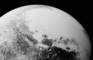 Long geologic faults on Pluto's surface