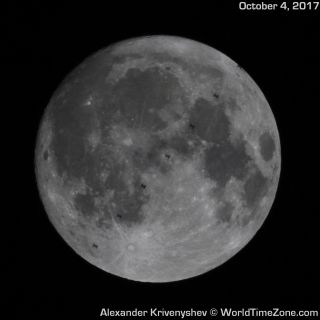 ISS Transits the Near-Harvest Moon