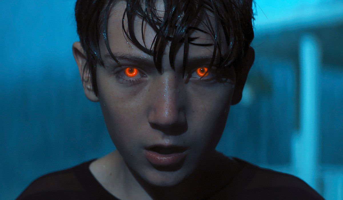 Brightburn Brandon Breyer's eyes burn bright in the rain