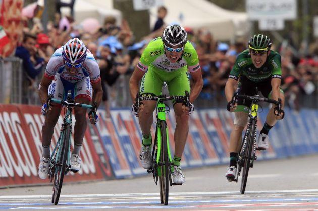 Marco Canola wins stage thirteen of the 2014 Giro d'Italia
