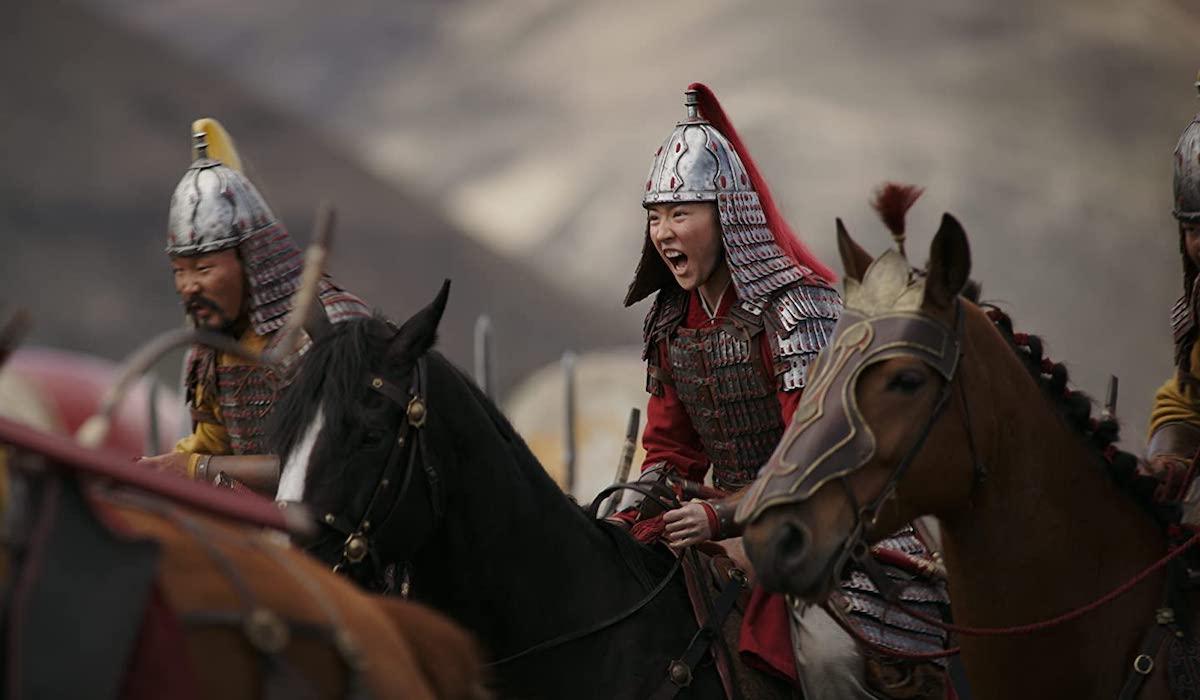 Mulan battle sequence in 2020 remake