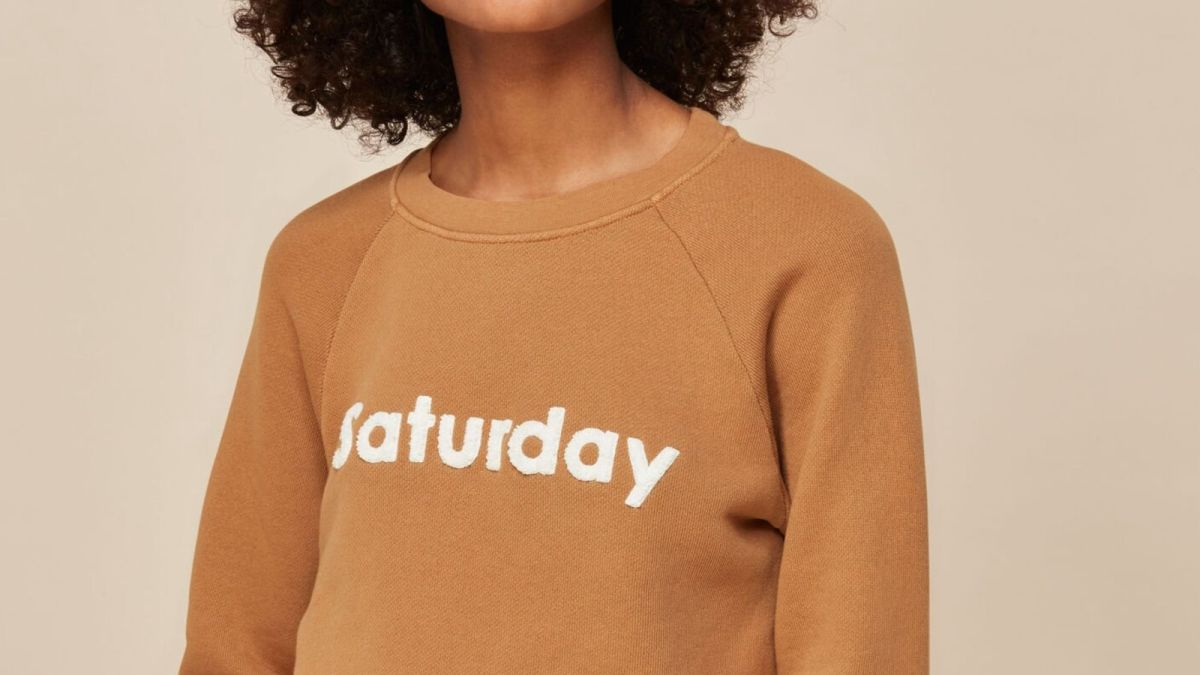 This gorgeous bargain sweatshirt from Whistles perfectly sums up our mood
