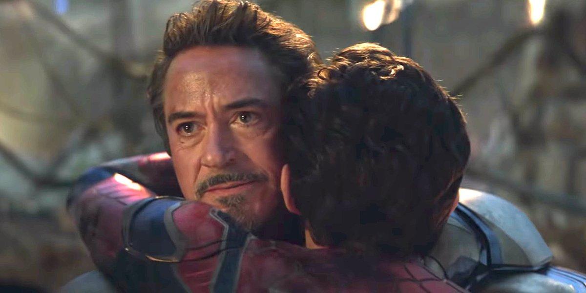 Avengers: Endgame Tony Stark Peter Parker Robert Downey Jr. Tom Holland Marvel Studios