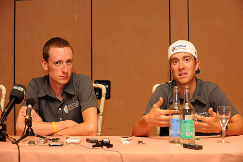 Bradley Wiggins, Christian Vande Velde, Tour de France 2009, rest day 2