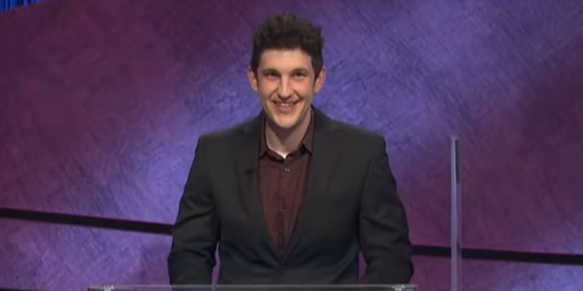 Matt Amodio leaving in the moment as LeVar Burton announces his 7-day total on Jeopardy