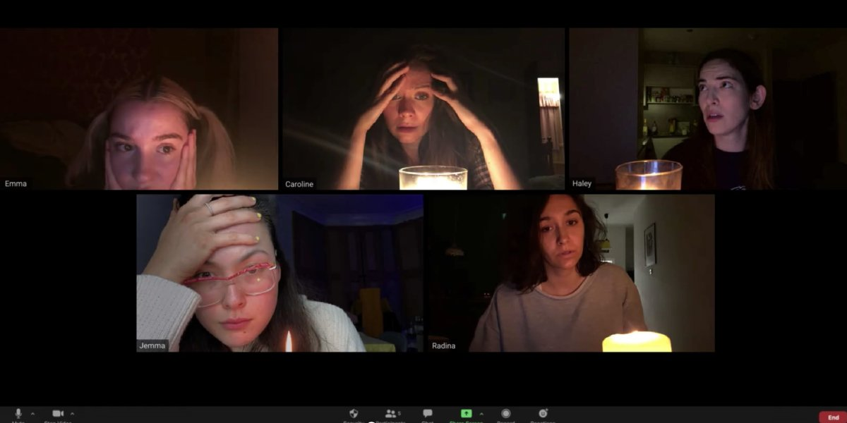 The cast of Host in the dark