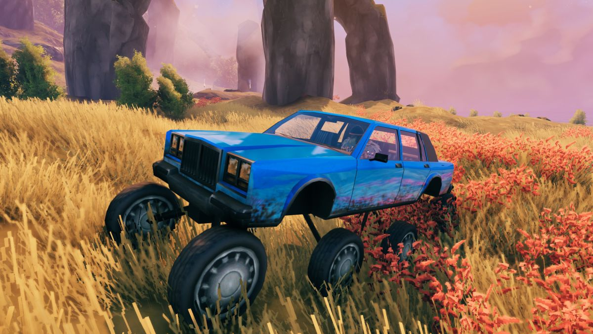 This Valheim mod adds the perfect Viking mount: a bright blue car