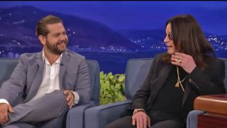 A picture of Jack and Ozzy Osbourne on the Conan show