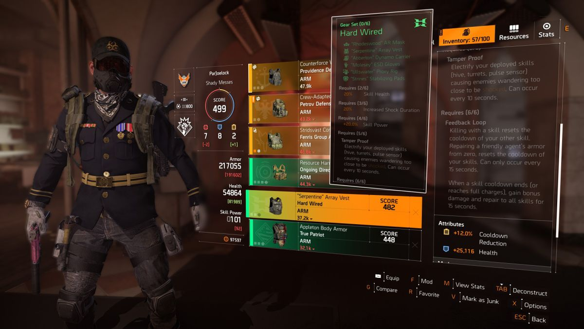 The Division 2 gear sets guide: how to get True Patriot, Hard Wired