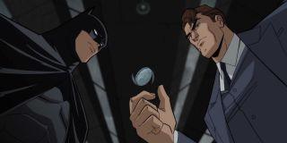 Batman watching Harvey Dent flip coin in The Long Halloween