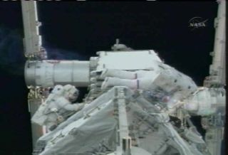 ISS Delivery: Astronauts Install New Space Station Power Plant