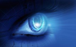 An artist's concept of a bionic eye.