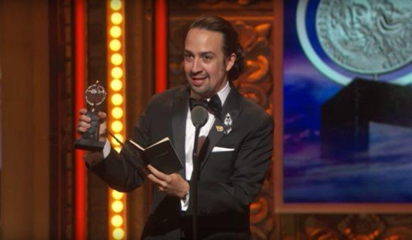 tonys lin-manuel miranda accepts award