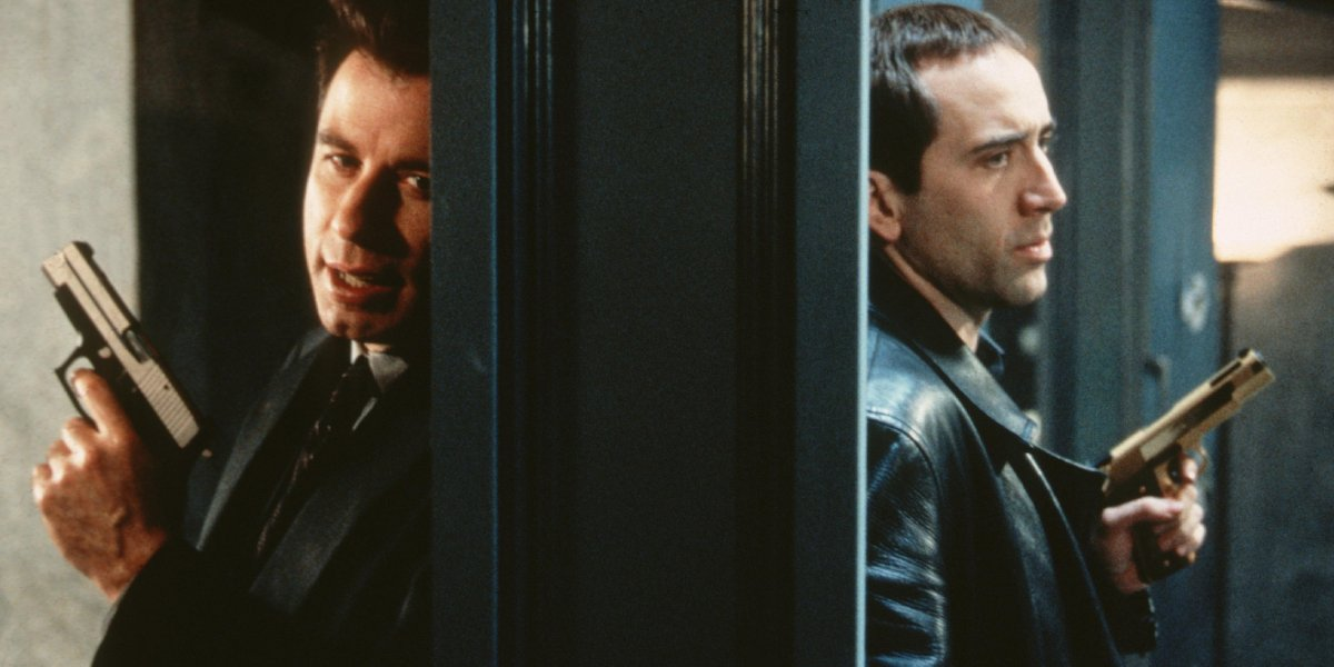 John Travolta and Nicolas Cage in Face/Off