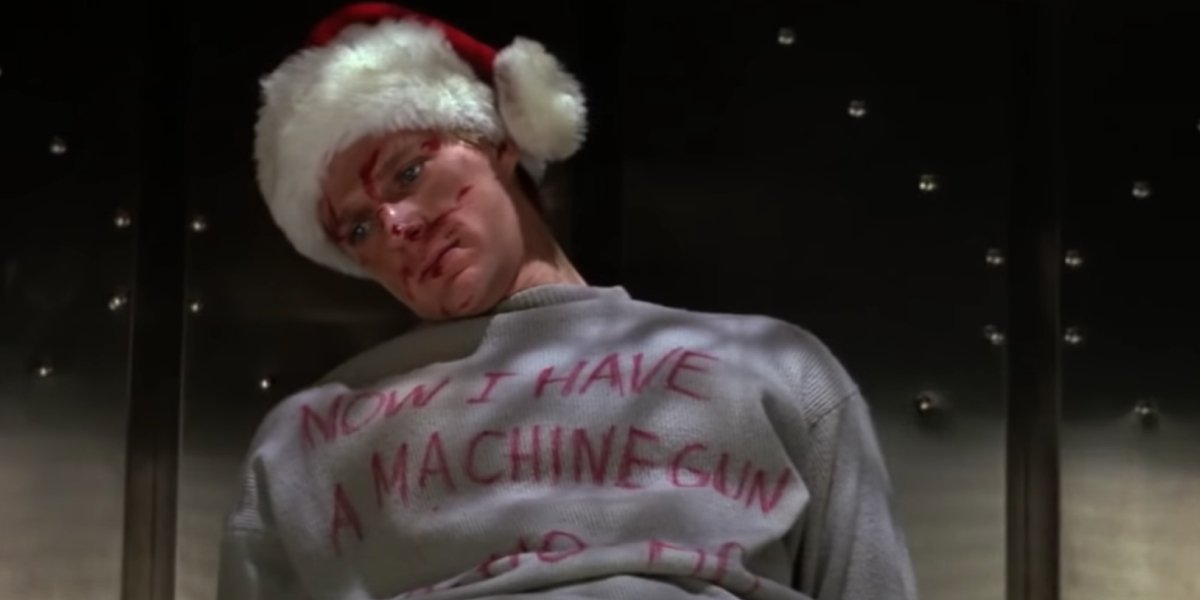 A holiday greeting courtesy of John McClane in Die Hard