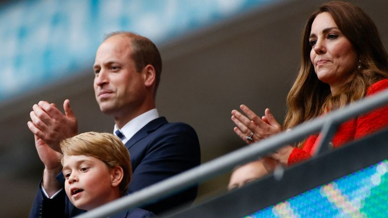 Prince george at the euros ahead of his 8th birthday