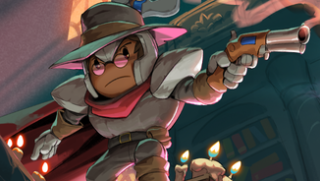 An image of a gunslinger character from Rogue Legacy 2.