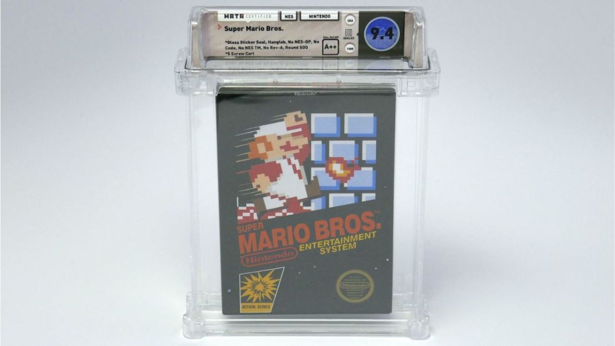 Sealed copy of Super Mario Bros. sells for $100,000, the highest price ever paid for a video game
