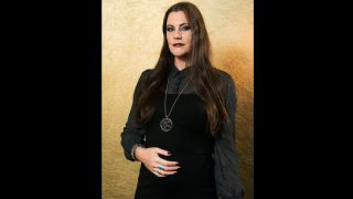 A picture of Floor Jansen, the first image taken since she announced she is four months pregnant