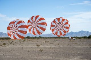Orion capsule parachute