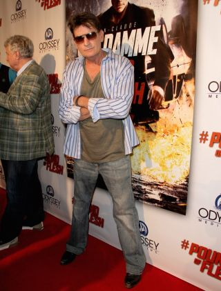 Charlie Sheen, who announced today (Nov. 17, 2015) he is HIV positive, is seen here at a movie opening in Los Angeles on May 7, 2015.