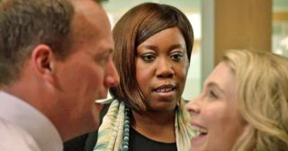 Chizzy Akudolu plays Mo Effanga in Holby City