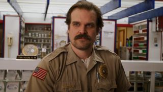 David Harbour as Chief Hopper in Stranger Things.