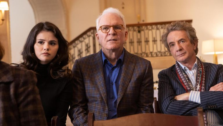 The group begins researching the victim. Meanwhile, Mabel's secretive past starts to be unraveled. Mabel (Selena Gomez), Oliver (Martin Short), and Charles (Steve Martin), shown. Where to watch Only Murders in the Building