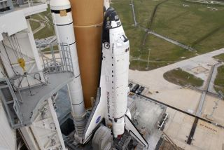 Space Shuttle Gears up for Home Improvement in Orbit