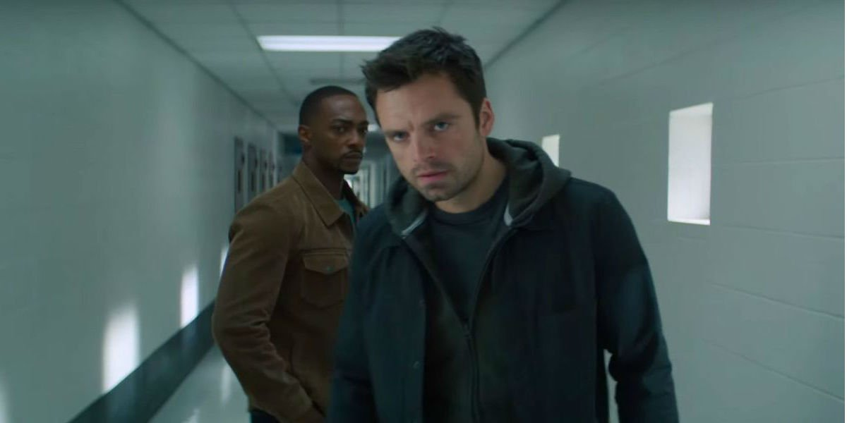 Sam Wilson and Bucky Barnes scoping things out.
