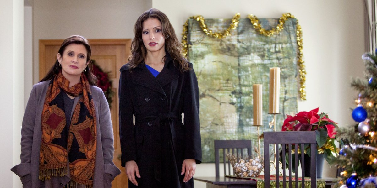 Carrie Fisher and Emmanuelle Vaugier in It's Christmas, Carol!