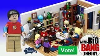 "A mockup of the newly-approved ""Big Bang Theory"" LEGO set."