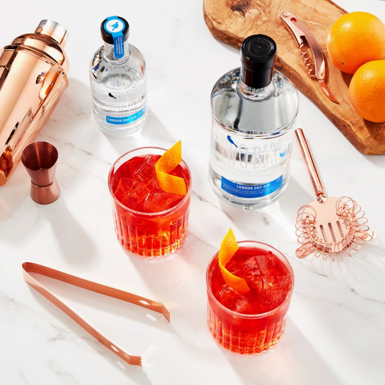 Negroni recipe using Two Birds Gin