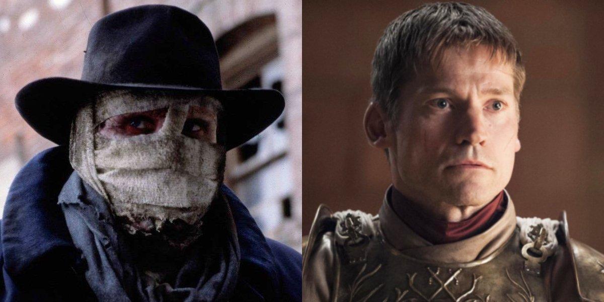 Liam Neeson in Darkman and Nikolaj Coster-Waldau in Game Of Thrones
