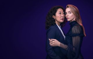 Eve (Sandra Oh) gets close to Villanelle (Jodie Comer) in Killing Eve 2