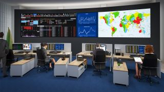 Planar DirectLight Ultra Series in control room environment