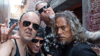 Metallica outside Rasputin Music